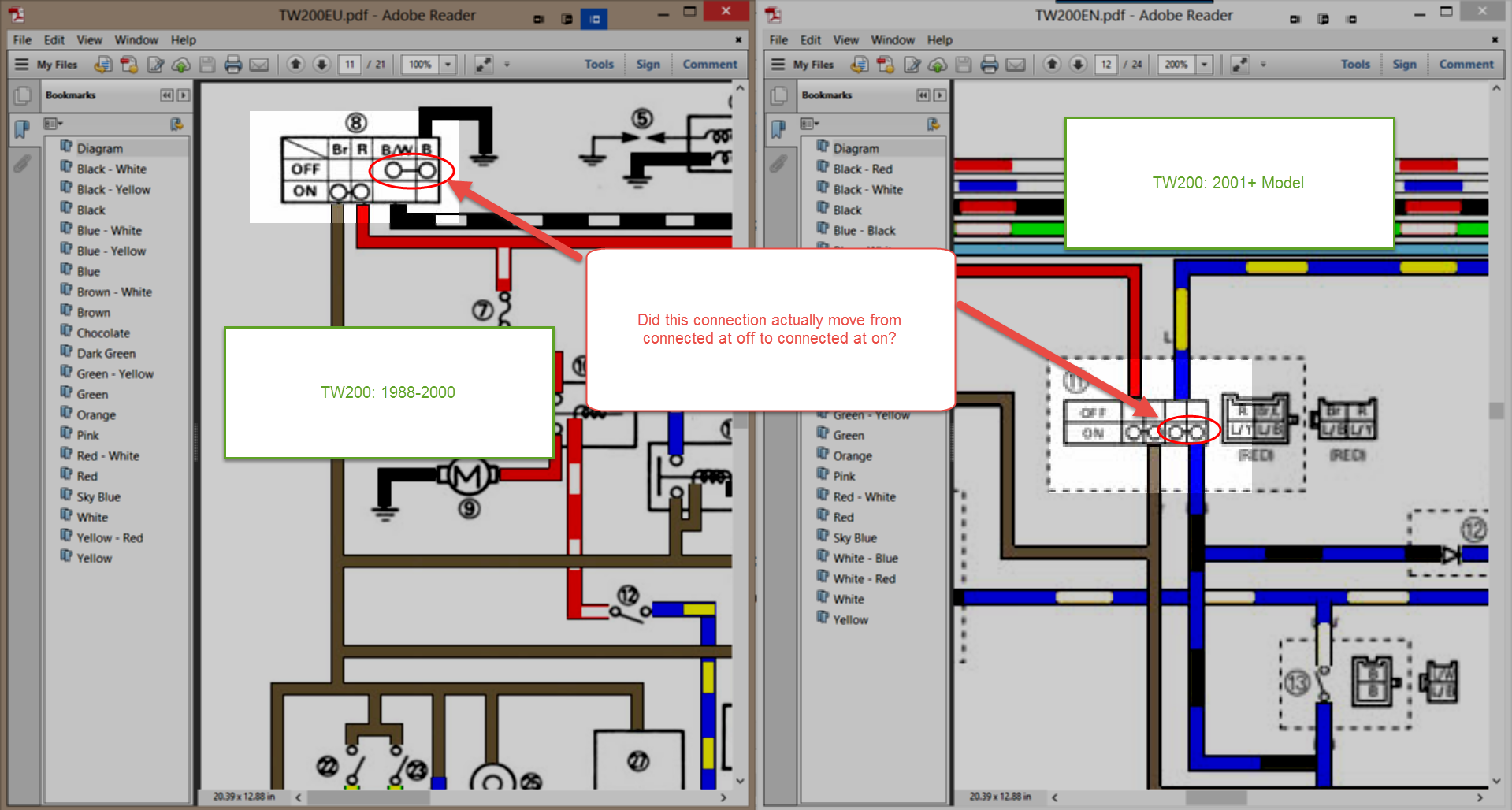 Colored wiring diagram   Page 2   TW200 Forum   Tw200 Wiring Diagram      TW200 Forum