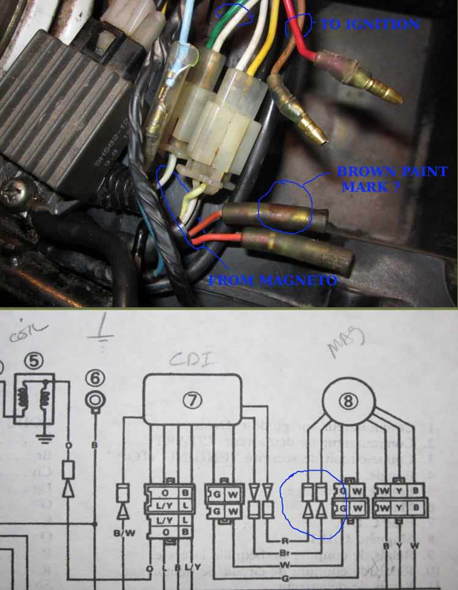 Ignition - magneto wire hookup | TW200 Forum | Tw200 Wiring Diagram |  | TW200 Forum